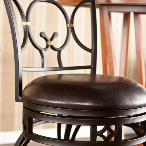 SEI Pendleton Swivel Bar Stool, Bronze
