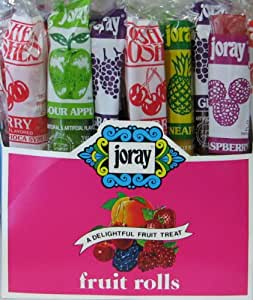Joray Fruit Rolls 1 oz/roll 48 CT Box. Kosher