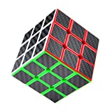 Picture Of <h1>Puzzle Cube, Haip® 3x3x3 Carbon Fiber Sticker Speed Smooth Magic Cube Puzzle Cube Black</h1>