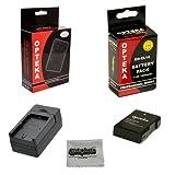 Opteka EN-EL14 1800mAh Ultra High Capacity Li-ion Battery Pack for Nikon D5300 D5200 D3100 D5100 D3200 D3300 DF Coolpix P7000 P7100 P7700 P7800 DSLR Cameras & Opteka MBC-series AC/DC Mono Rapid Battery Charger & Microbfiber Cleaning Cloth.