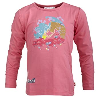 Lego Wear - Sweat-shirt - Fille - Rouge (455 Pink) - FR : 4 ans (Taille fabricant : 104)