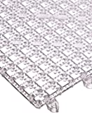 "San Jamar VM5280 Versa-Mat Interlocking Bar Mat, 12"" Length x 12"" Width, Clear (Pack of 12)"