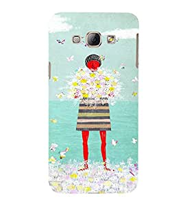 EPICCASE Lady with flowers Mobile Back Case Cover For Samsung Galaxy A8 (Designer Case)