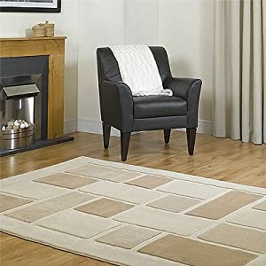 Visiona Soft 4304 Beige Brown Red Cream Square Pattern Rugs Modern Contemporary Luxury Large Cheap And Affordable Rug (Cream, 240 x 340cm) from Abbey-Carpets