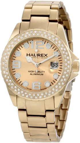 Haurex Italy XK374DCC - Reloj analógico de cuarzo para mujer con correa de acero inoxidable, color dorado