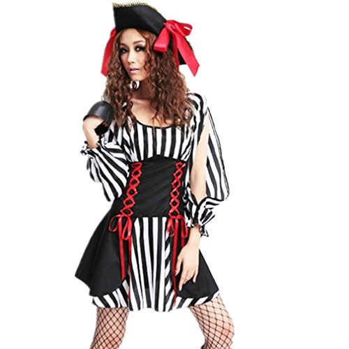 WE-BEAUTY® Halloween Dress Pirate Cosplay Sexy XMAS Costume