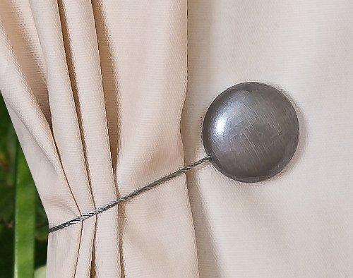 Curtain Clips, Tiebacks, or holdbacks | Set of 2 (Silver)