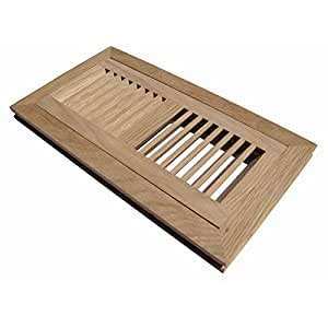 Welland 4 inch x 12 inch white oak wood vent cover floor for 6x12 wood floor register