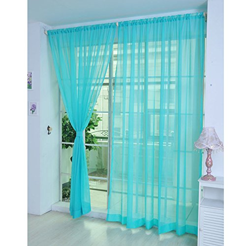 Coloful Floral Tulle Voile Door Window Curtain Drape Panel Sheer Scarf Divider (80 Inch Shower Curtain Liner compare prices)