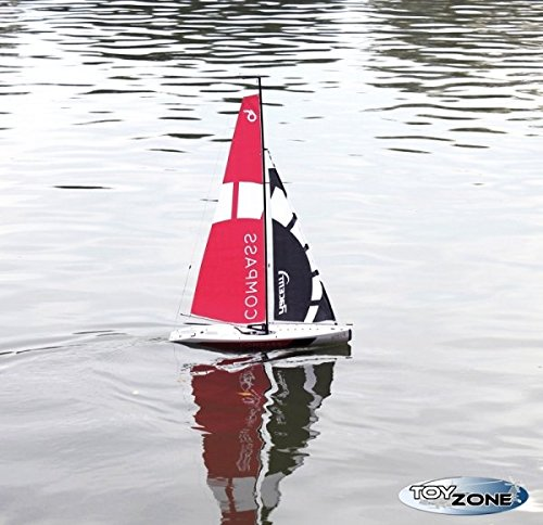 Rc-Segelboot-Segelyacht-Segelschiff-Compass-Regattayacht-24-GHZ-Schiff