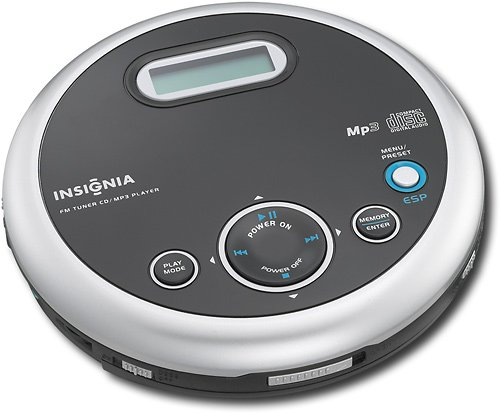 Insignia NS-P5113 Portable CD Player with FM Tuner and MP3 Playback - Black