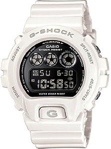 Casio Men's G-Shock DW6900NB-7 White Resin Quartz Watch with Black Dial