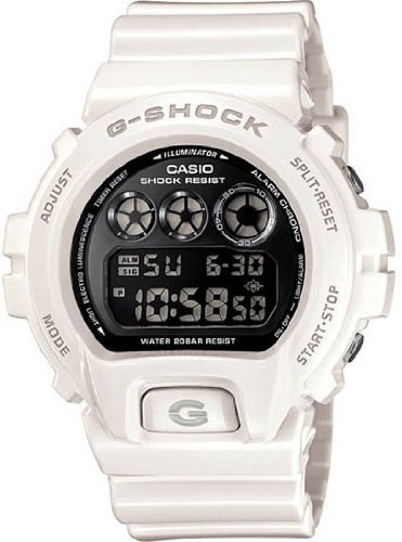 Casio Men's G-Shock DW6900NB-7 White Resin Quartz Watch with Black Dial