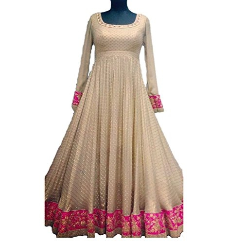 HMP Fashion women`s Lycra Anarkali Style Bollywood Designer Salwar Suits Dress Materials