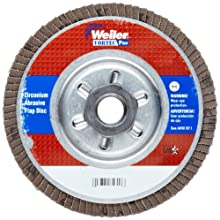 "Weiler Vortec Pro Abrasive Flap Disc, Type 29, Threaded Hole, Aluminum Backing, Zirconia Alumina, 4-1/2"" Dia., 80 Grit (Pack of 1)"