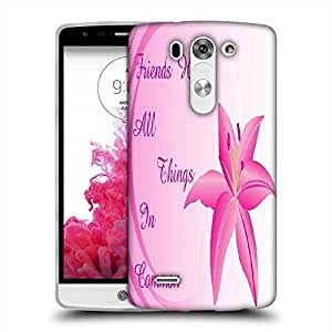 Snoogg background with lily flower Designer Protective Back Case Cover For LG G3 BEAT