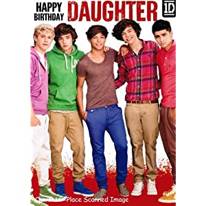 1D One Direction - Daughter Birthday Card: Amazon.co.uk