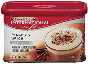 Maxwell House International Coffee Pumpkin Spice Latte, 9-Ounce Cans (Pack of 6)