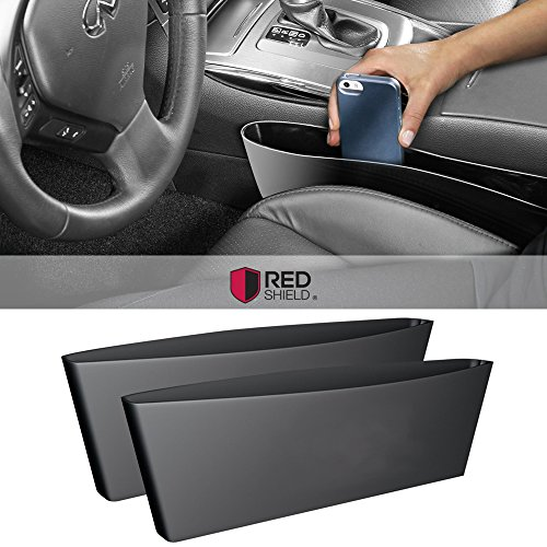 2pk universal car interior seat organizer black vehicles parts vehicle parts accessories. Black Bedroom Furniture Sets. Home Design Ideas