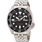 Seiko import Black SKX007KD men's SEIKO watches reimportation overseas model (Color: silver)