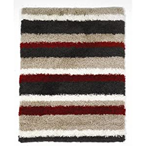 Nordic Multi Channel Shag Rug Rug Size: 230cm x 160cm (7 ft 6.5 in x 5 ft 3 in) from Flair Rugs