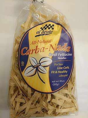 Carba-Nada Low Carb Basil Fettuccine Pasta 10 oz. bag from Al Dente