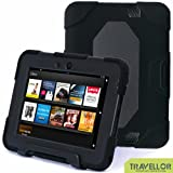 Thinking Summer Newest Kindle Fire Hd 7 Inch Tablet Laptop Case Winpartner Travellor M2a Non Toxic Eva Case Super 3d Protect Military-duty Case with Stand Holder Shell Cover Case for Kids Rainproof Sandproof Dirtproof Shockproof for Tablet Laptop 7