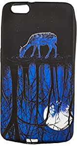 Purple Eyes Generic Night Glow Back Case Cover For Huawei Honor 4x Thirsty Deer (Multi-coloured)