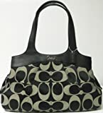 Coach Signature Lexi Hobo Shoulder Satchel Handbag Purse 18828 Black White