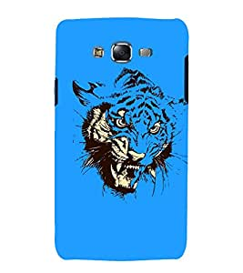 printtech Nature Tiger Abstract Art Back Case Cover for Samsung Galaxy Core i8262 / Samsung Galaxy Core i8260