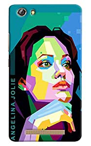 Omnam Hollywood Actress Printed With Effects Designer Back Cover Case for Gionee Marathon M5 Lite