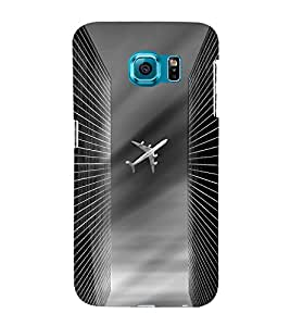 Fuson Premium Back Case Cover Aeroplane With pink Background Degined For Samsung Galaxy S6 Edge+ G928::Samsung Galaxy S6 Edge Plus G928F