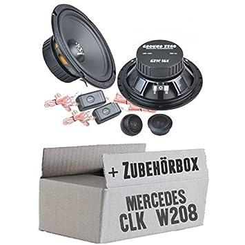 Mercedes CLK W208 Front - Ground Zero GZIC 16X - 16cm Lautsprecher System - Einbauset