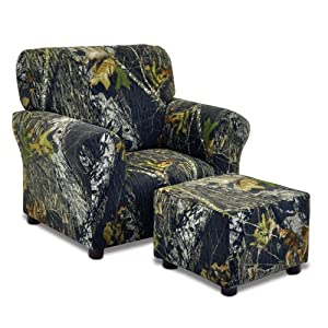 Amazon.com - Mossy Oak Camouflage Kids Club Chair and Ottoman Set