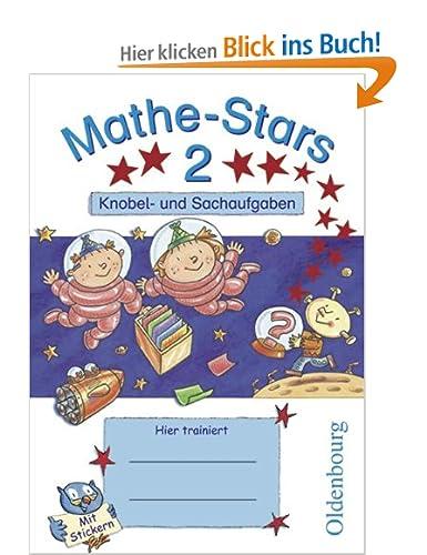 Mathe-Stars - Knobel- und Sachaufgaben: 2. Schuljahr - Übungsheft: Mit Lösungen [Broschüre]