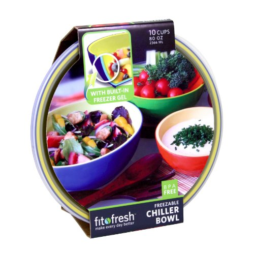Fit & Fresh Chiller Serving Bowl With Lid, 10 Cup