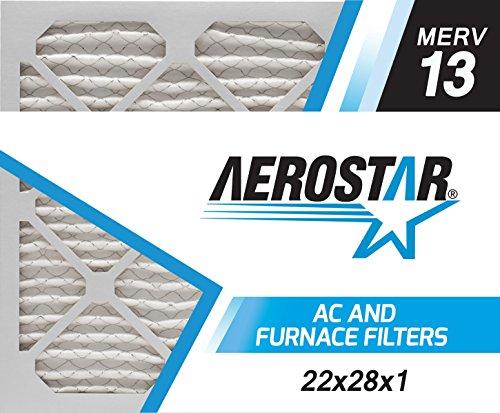 22x28x1 AC and Furnace Air Filter by Aerostar - MERV 13, Box of 12