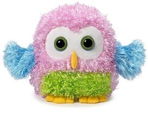 "Ganz 7"" Whoorah Hoots Plush Toy, Light Pink"