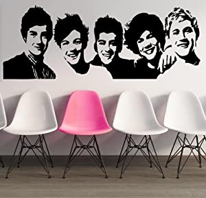 "One Direction Group ~ One Direction: Wall Decal, Home Decor 13"" X 35"" from Best Priced Decals"