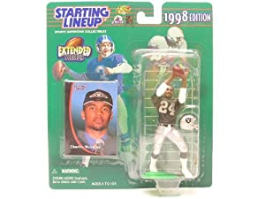 CHARLES WOODSON OAKLAND RAIDERS 1998 NFL EXTENDED SERIES Starting Lineup Action... by Starting Line Up