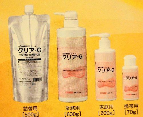 皮膚保護クリーム クリアG600g入りポンプタイプハンドクリーム