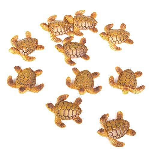 10pcs Miniature Dollhouse Bonsai Fairy Garden Landscape Sea Turtle