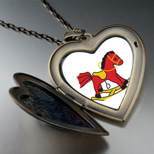 Rocking Horse Toy Large Pendant Necklace