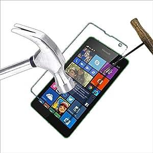 Acm Tempered Glass Screenguard For Microsoft Lumia 535 Mobile Premium Screen Guard Anti-Scratch Proof Protector