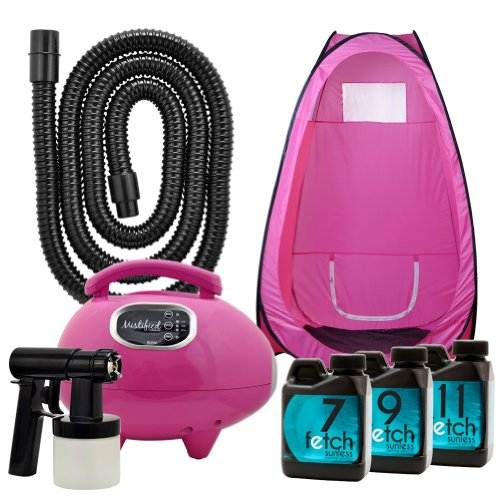 Mistified Pink Tanning Machine Sunless Fetch Dha Tan Spray Tent Kit 1A front-336499