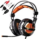 Sades SA-928 Lightweight Professional Gaming Headset Over Ear Headband Headphones with Microphone Volume Control for PC Laptop Phone PS3 Xbox360