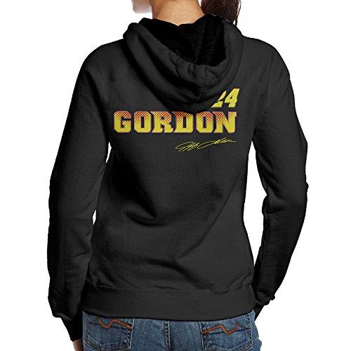[BNBN Women's Jeff Gordon Nascar #24 Hoodies On The Back Size L Black] (Nascar Tony Stewart Costumes)