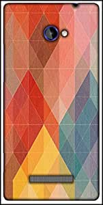 Snoogg Geometic Formations Colourful Designer Protective Back Case Cover For HTC Windows Phone 8S