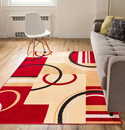 metro-shapes-red-beige-modern-geometric-boxes-lines-pattern-5-x-7-area-rug-soft-shed-free-easy-to-cl