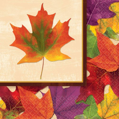 Thanksgiving Fall Foliage Luncheon Napkins Celebration Parties Harvest Fun 16 Pk